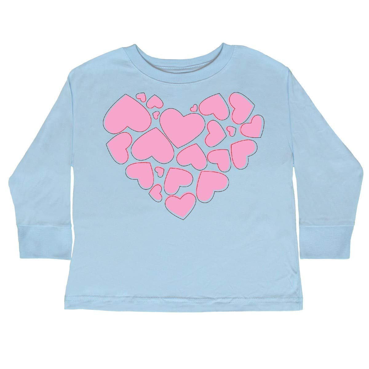 inktastic Love Hearts Pink Toddler Long Sleeve T-Shirt Valentine Romance