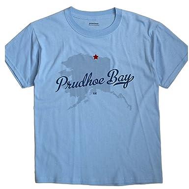 Prudhoe Bay Alaska Map.Greatcitees Prudhoe Bay Alaska Ak Map Unisex Souvenir T Shirt