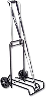 Stebco Luggage Cart - Telescopic Handle - 113.40 kg Capacity - 6' (152.4 mm) Caster Size - Steel - 15.5' Width x 19' Depth x 44.5' Height - Steel Frame - Chrome