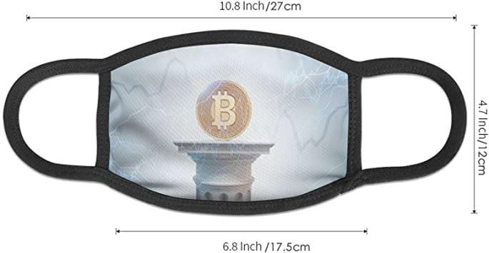ZVEZVI Bitcoin Chart - Máscara a prueba de polvo y resistente ...