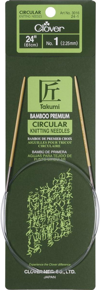 24-Inch Size 2 Clover Bamboo Circular Knitting NeedlesTakumi