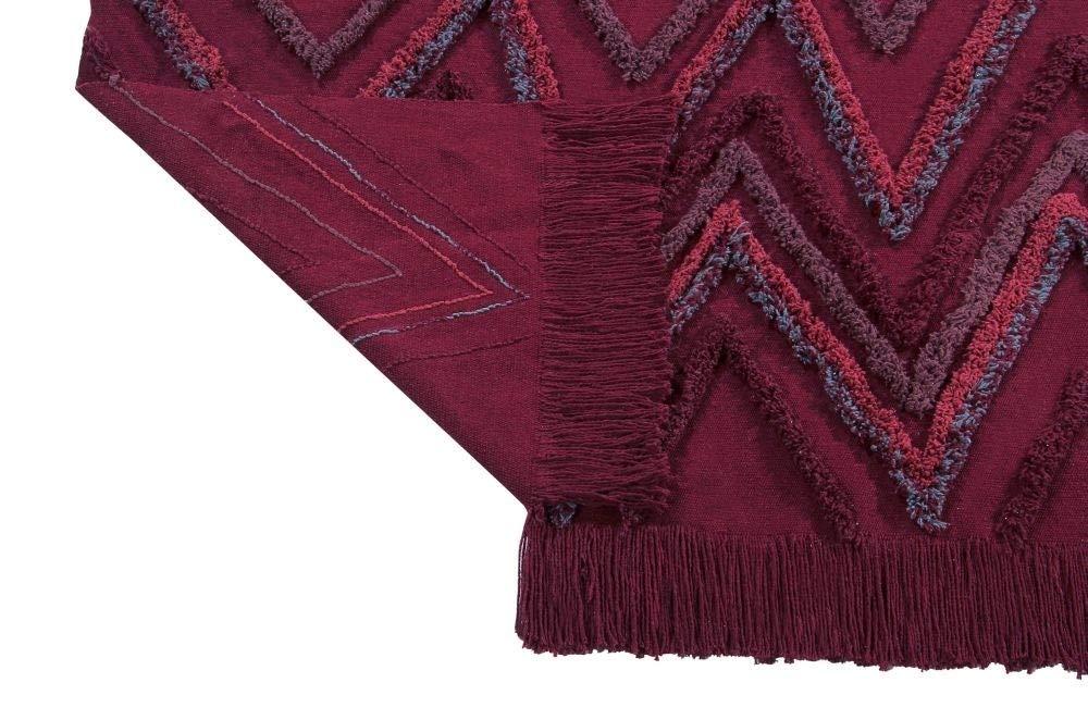 Lorena Canals Tappeto Lavabile Earth Savannah Red 100/% Cotone Bordeaux 170x240 cm