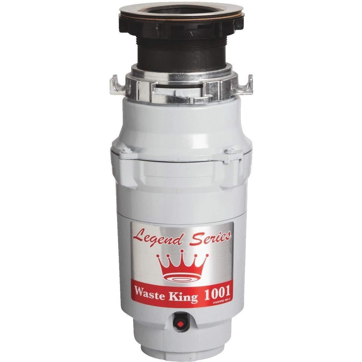 Waste King L-1001 Garbage Disposal with Power Cord, 1/2 HP - (Renewed)