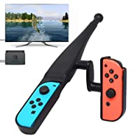 Fyoung Fishing Rod for Nintendo Switch Joy-Con New Game, Fishing Bass Kit for Switch Joy Cons Controller Bass Pro Shops - The Strike Bundle