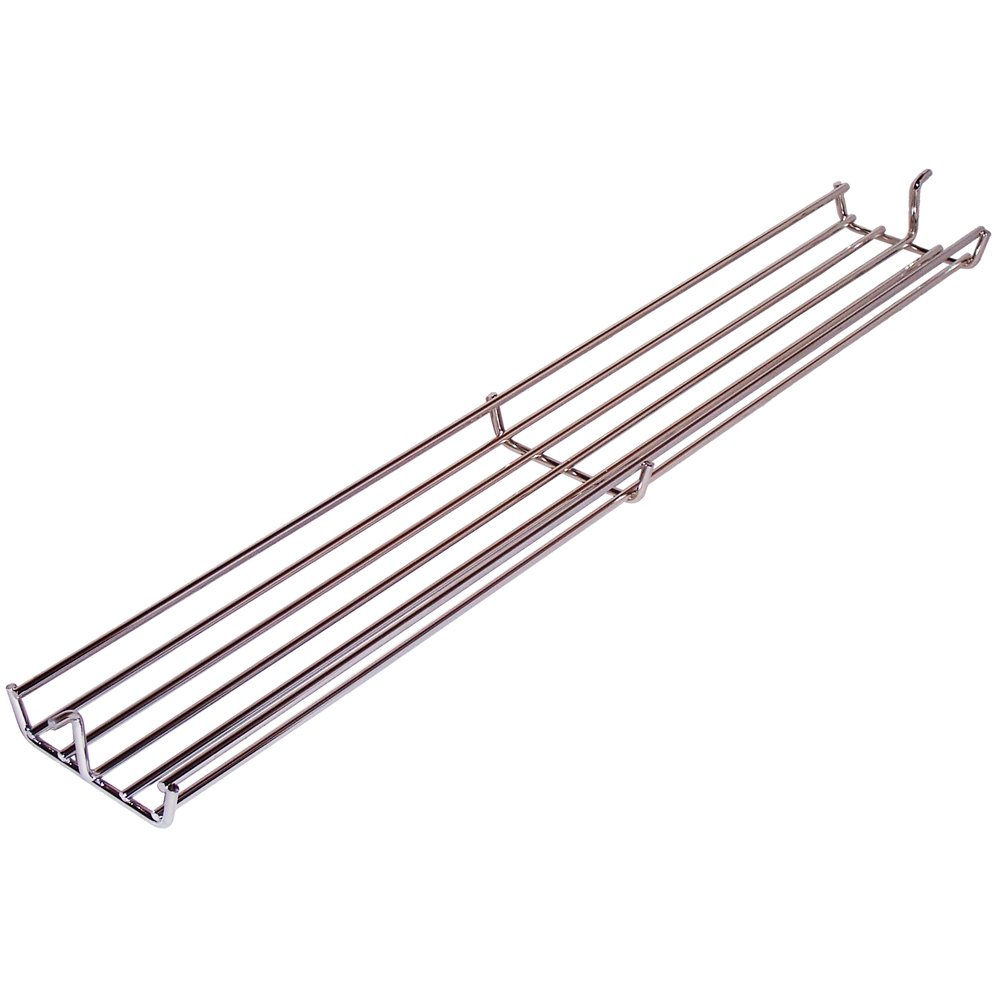 Music City Metals 02347 Warmhalterost aus verchromtem Stahl für Gasgrills der Marke Weber - Silberfarben