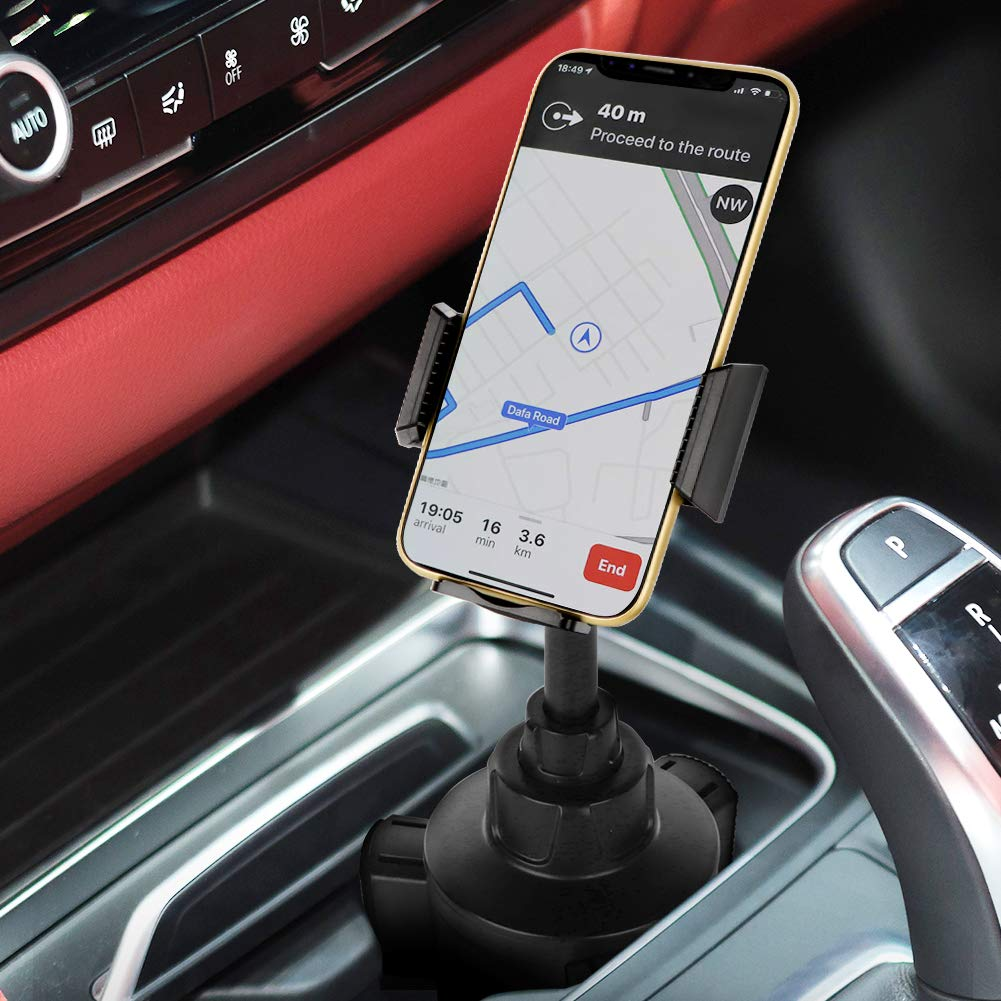 AONKEY Cup Holder Phone Mount Height Adjustable Metal Stand Car Phone Cradle Fit for All Smartphones Include iPhone 11 Pro//11 Pro Max//XR//XS//XS Max//X//8//7 Galaxy S10//S10 Plus Note 9//Note 10 Plus