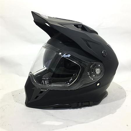 Amazon.es: VIPER RX-V288 ADULTOS MOTOCROSS ENDURO ATV QUAD CARRERAS DOBLE VISERA CASCO (L, NEGRO MATE)