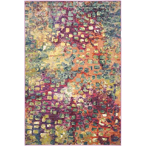 Safavieh Pink Multi Rug Collection Timeless Piece Vintage Designs Crafted Spice Unique Carpet (5 x 8)
