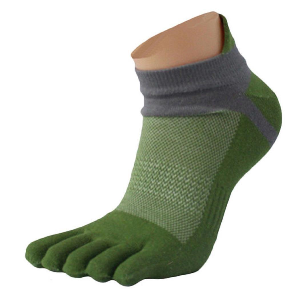 Clearance!Men Mesh Meias Sports Running Five Finger Toe Socks Funny Sports Socks (green)
