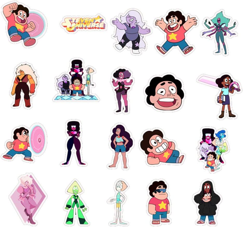 Perfect for Phone Travel Case Computer Skateboard Guitar BUUG Steven Universe Stickers Cool//Trendy Vinyl Decal for Teen Girl Adults Kids Cartoon Waterbottle//Laptop Waterproof Stickers