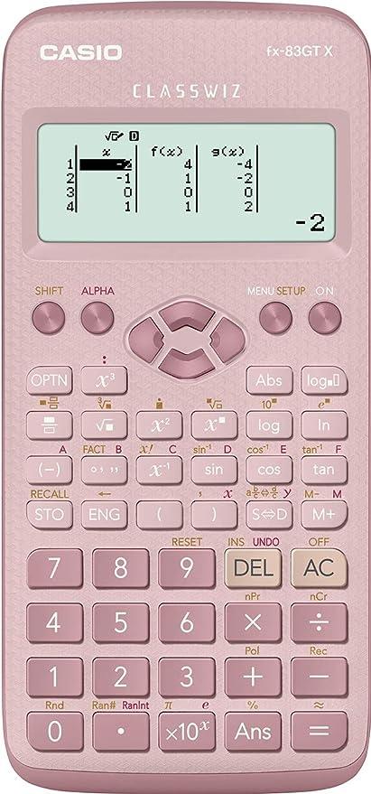 131d95f1f485 Casio fx-83GTX Calculadora científica Rosa  Amazon.es  Oficina y ...