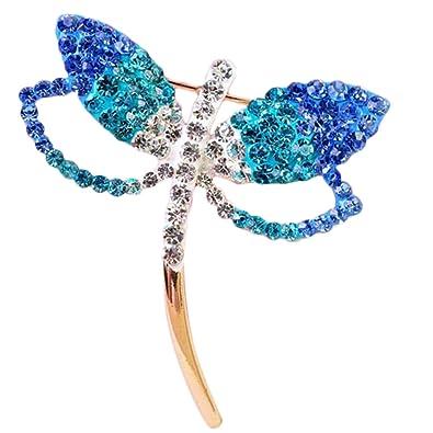 10a903b583e5 iTemer Broches de bisuteria para ropa Pins para chaquetas Broches para  zapatos Un hermoso recuerdo Azul Metal Modelo de mariposa 4   4.2cm   Amazon.es  ...