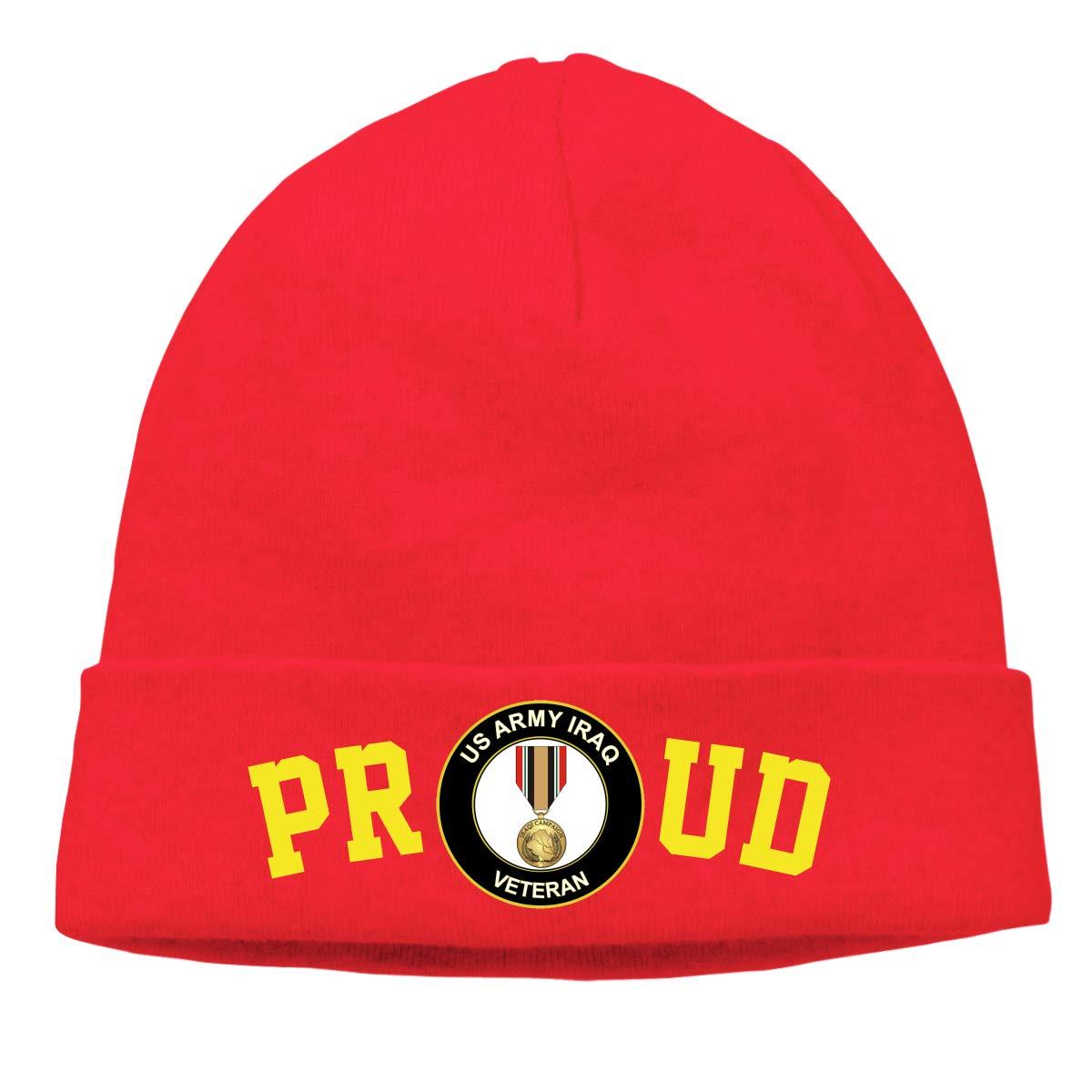 FORDSAN CP Proud US Army Iraq Veteran Mens Beanie Cap Skull Cap Winter Warm Knitting Hats.
