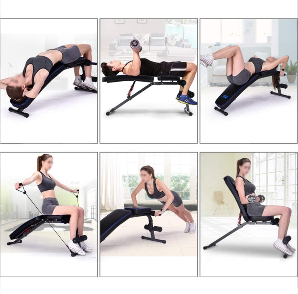 with skipping rope sit-up board for bench press bench dumbbell bench for folding abdomen multi-function home fitness equipment workout bench ZYX KFXL weight bench Workout bench