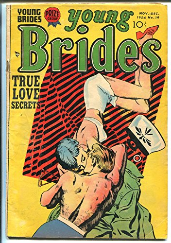YOUNG BRIDES #19 1954-PRIZE-SWIMSUIT COVER-SPICY ART-ROSS ANDRU-vg
