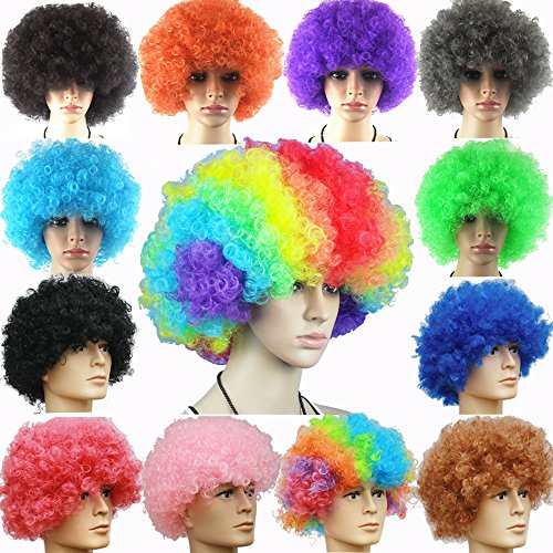 Colorful Afro wig hangers &