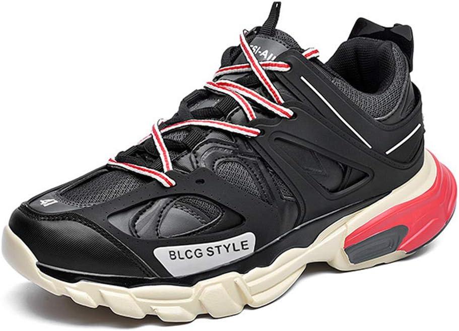 DJDJY Zapatos Deportivos para Correr Entrenador para Hombres Jogging Volador Tejido Transpirable Color A Juego Street Mesh Air Cushion Zapatos De Viscosa,Black Red,37: Amazon.es: Hogar