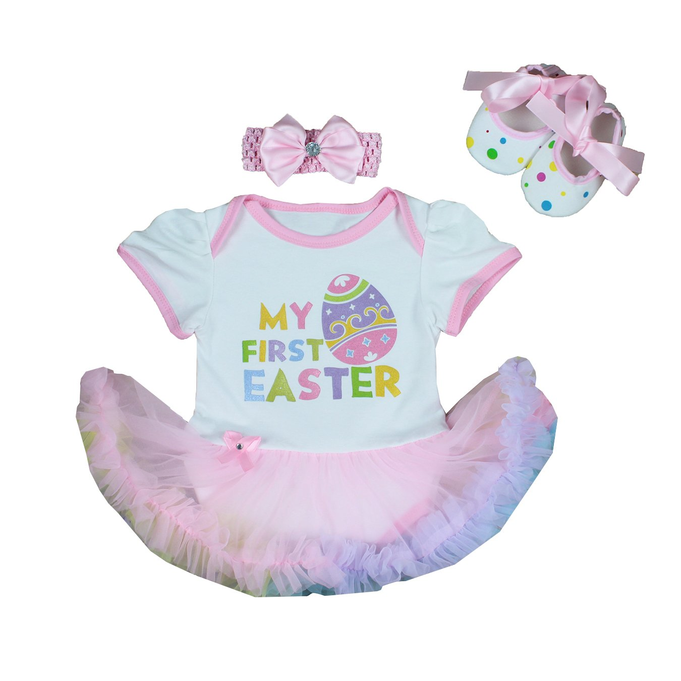 54dc77a47 Online Cheap wholesale MyCHIC Infant Baby Girl My First Easter Outfits Tutu  Romper Dress Headband Shoes Set Skirt Sets Suppliers