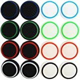 XFUNY 8 Pairs/16 PCS Replacement Silicone Analog Controller Joystick Luminous Thumb Stick Grips Caps Cover for PS4 PS3 PS2 Xb