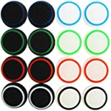 XFUNY 8 Pairs/16 PCS Replacement Silicone Analog Controller Joystick Luminous Thumb Stick Grips Caps Cover for PS4 PS3…