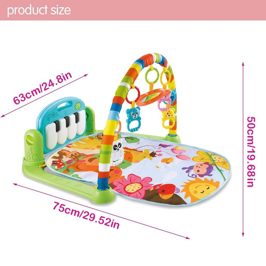 Baby Gym Play mats,Large Baby Game Pad Music Pedal Piano Fitness Rack Baby Activity Mat