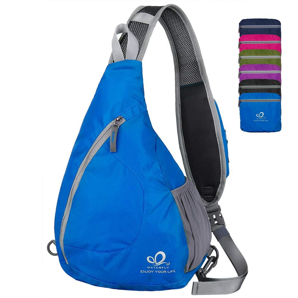 Waterfly Sling Chest Backpacks Bags Crossbody Shoulder Triangle Packs Daypacks for Cycling Walking Dog Hiking Boys Girls Men Women by Waterfly