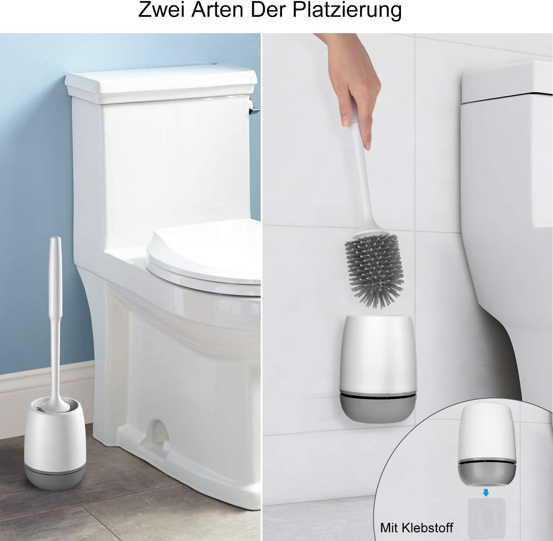 grigio con bianco. silicone Dericam Scopino per WC e supporto