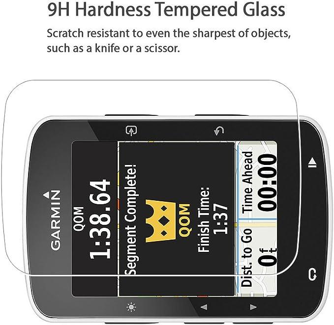 Garmin Edge 520 Protector de pantalla, cobertura total 9H Dureza ...