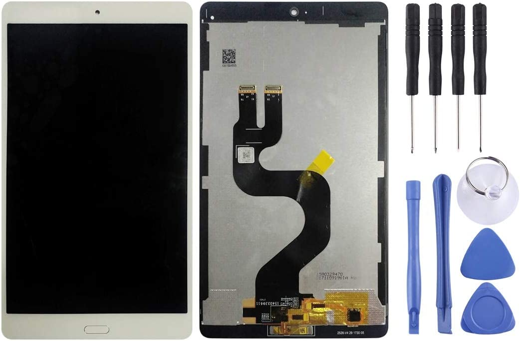 White Smartillumi for Spare Part LCD Screen and Digitizer Full Assembly for Huawei MediaPad M3 8.4 inch//YIBTV-W09 BTV-DL09 Color : White