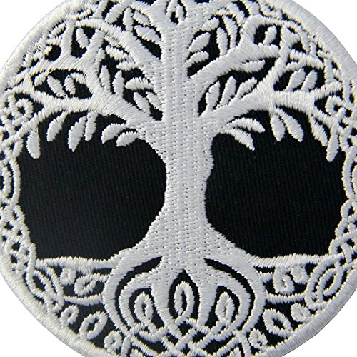 Yggdrasil The Tree of Life in Norse Patch Embroidered Badge Iron On Sew On Emblem