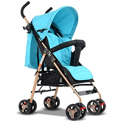 Olydmsky Carro Bebe,Coche de bebé Cochecito suspensión Plegable Infantil Paraguas Silla de Paseo luz
