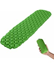 Ultralight Sleeping Pad - Ultra-Compact for Camping, Hiking, Backpacking, Travel Comfortable Air-Support Cells Design