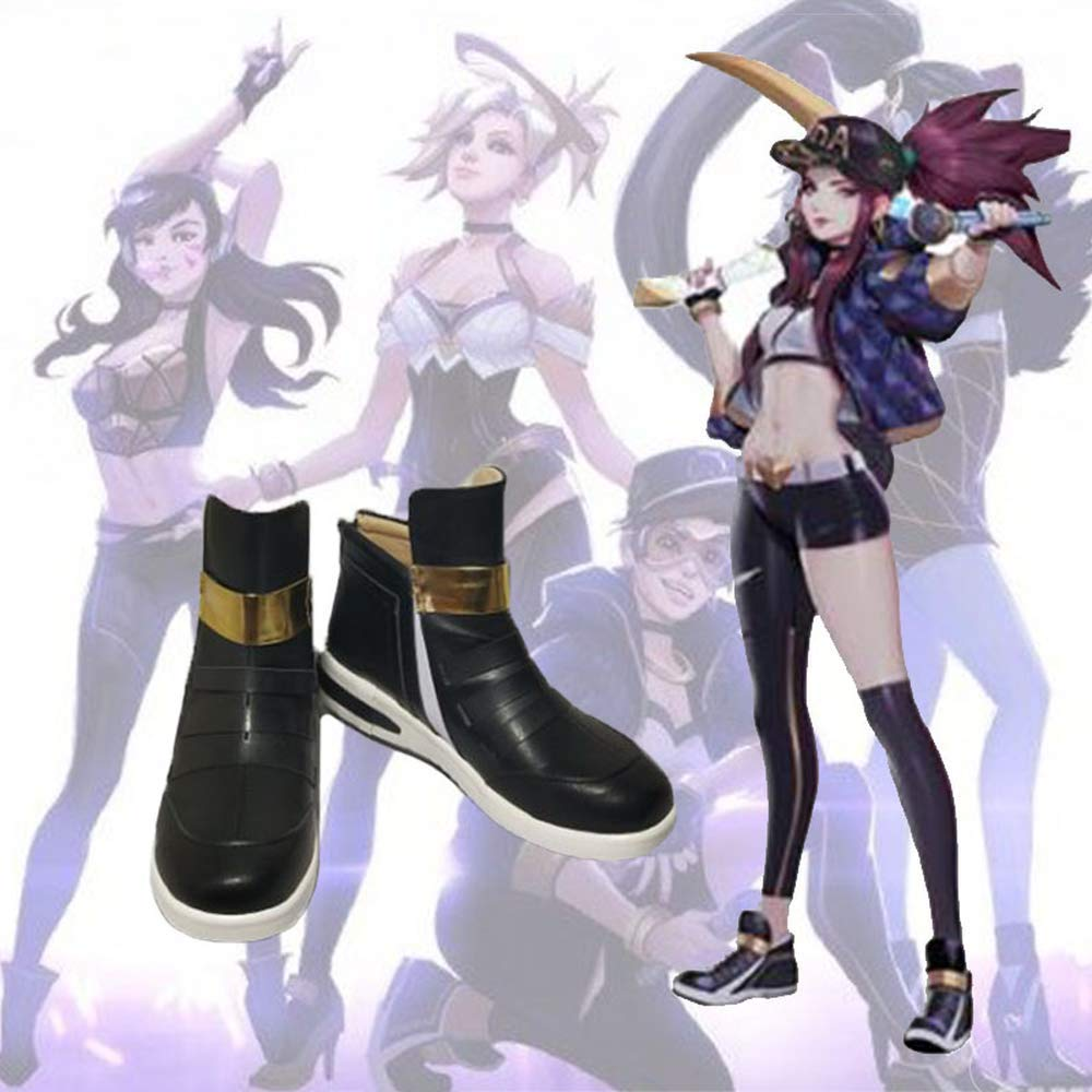 LOL LEAGUE OF Legends KDA Akali High Heel Shoes Cosplay