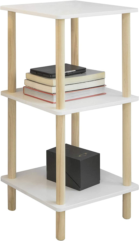 SoBuy STR02-K-WN Estantería de 3 Niveles para Baño Librería Escalera 36 * 36 * 75 cm ES (36 x 36 x 75 cm): Amazon.es: Hogar