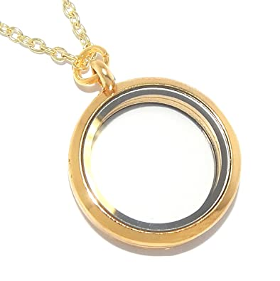 yellow lockets round pendant locket borsheims gold