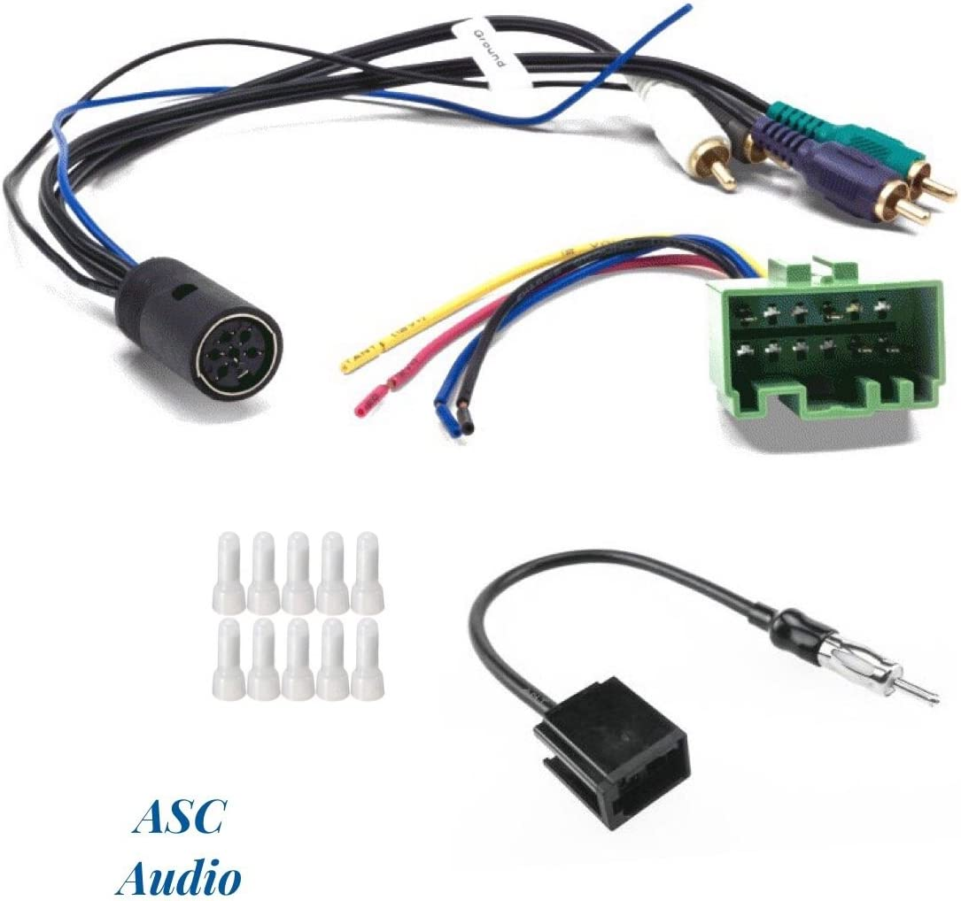 [SCHEMATICS_4FD]  Amazon.com: ASC Audio Car Stereo Radio Wire Harness and Antenna Adapter to  Install an Aftermarket Radio for Some Volvo Vehicles- W/Factory OEM Premium  Amplifier System - Compatible Vehicles Listed Below: Car Electronics   Volvo Radio Wiring Harness      Amazon.com
