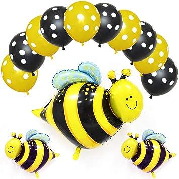 Happy Bee Day Banner Mit Gelben Bienenen Luftballons Für Hummeln Geburtstag Party Dekoration Honig Biene Motto Geburtstag Party Baby Shower Supplies Happy Bee Day Banner Drogerie Körperpflege