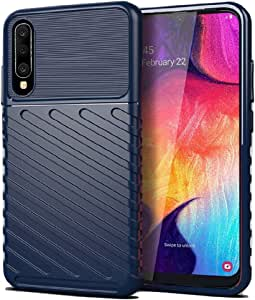 Samsung Galaxy A50 Blue Shockproof Silicone Case Cover