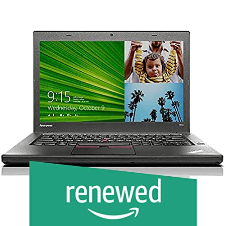 (Renewed) Lenovo Thinkpad T450 14-inch Laptop (5th Gen Core i5 5300U/8GB/256GB SSD/Windows 10/Integrated Graphics), Black Laptops at amazon
