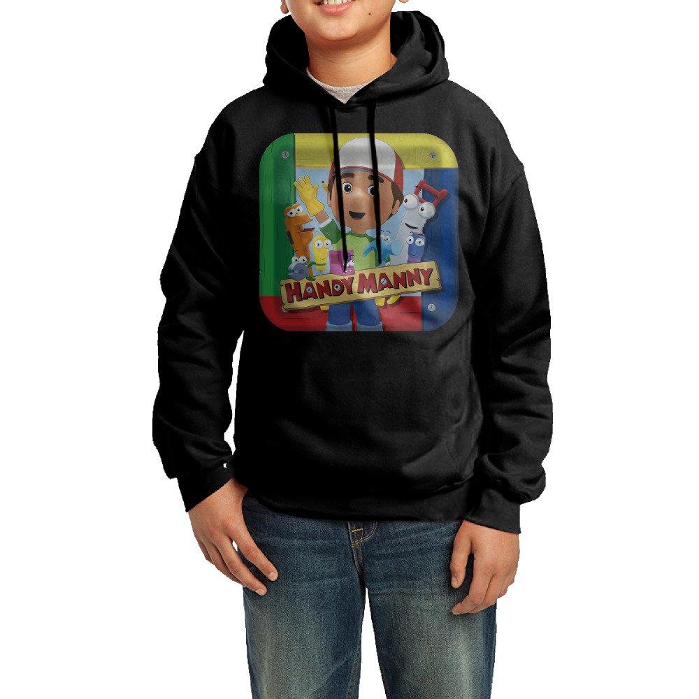 Boys Girls Kids Handy Manny Comedy Hoodie Black Cotton Hoodie