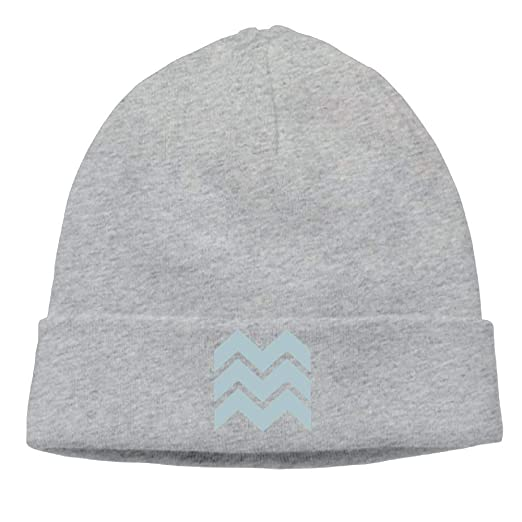 Funny Beanies Men s Trendy White and Blue Pastel Design Cool Skiing ... da1c77a6dec