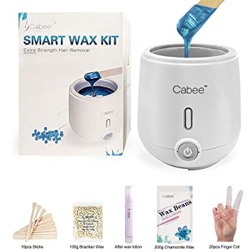 Amazon Com Wax Warmer Kit For Hair Removal Home Waxing With 7oz