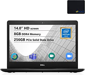 "Dell Inspiron 14"" HD Laptop, Intel 5405U Processor, 8GB DDR4 Memory, 256GB PCIe Solid State Drive, Online Class Ready, Webcam, WiFi, HDMI, Bluetooth, KKE Mousepad, Win10 Home, Black"