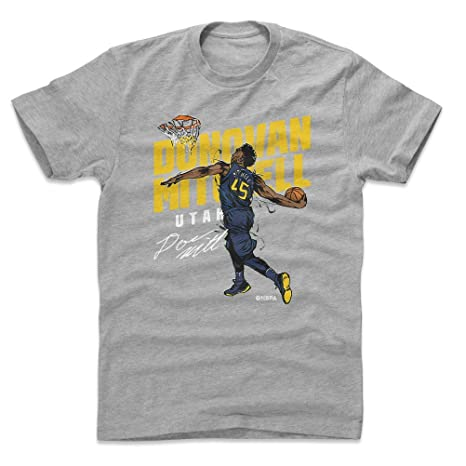 b87709117 500 LEVEL Donovan Mitchell Cotton Shirt Small Heather Gray - Vintage Utah  Basketball Men s Apparel -