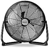 COSTWAY High Velocity Fan 16-Inch 3-Speed Metal Commercial Industrial Grade 360° Floor Fan, Black (16'')