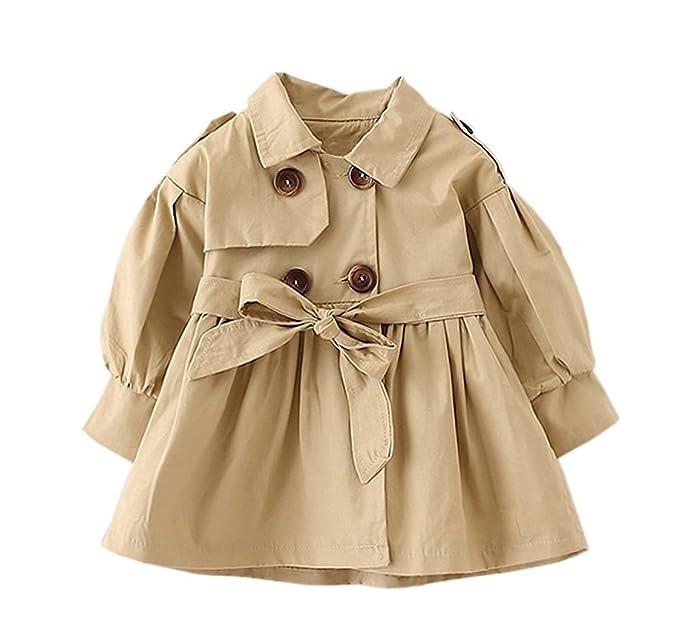 a819048e5 Amazon.com  JIANLANPTT Baby Girls Trench Coat Kids Jacket Outwear ...