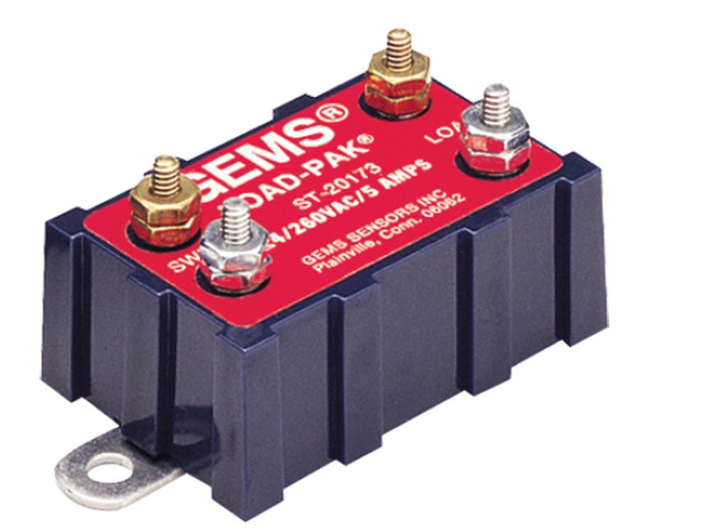 Gems Sensors 20173 Load-Pak Non-Intrinsically Safe Relay, 24 to 260 VAC, 5A AC Current