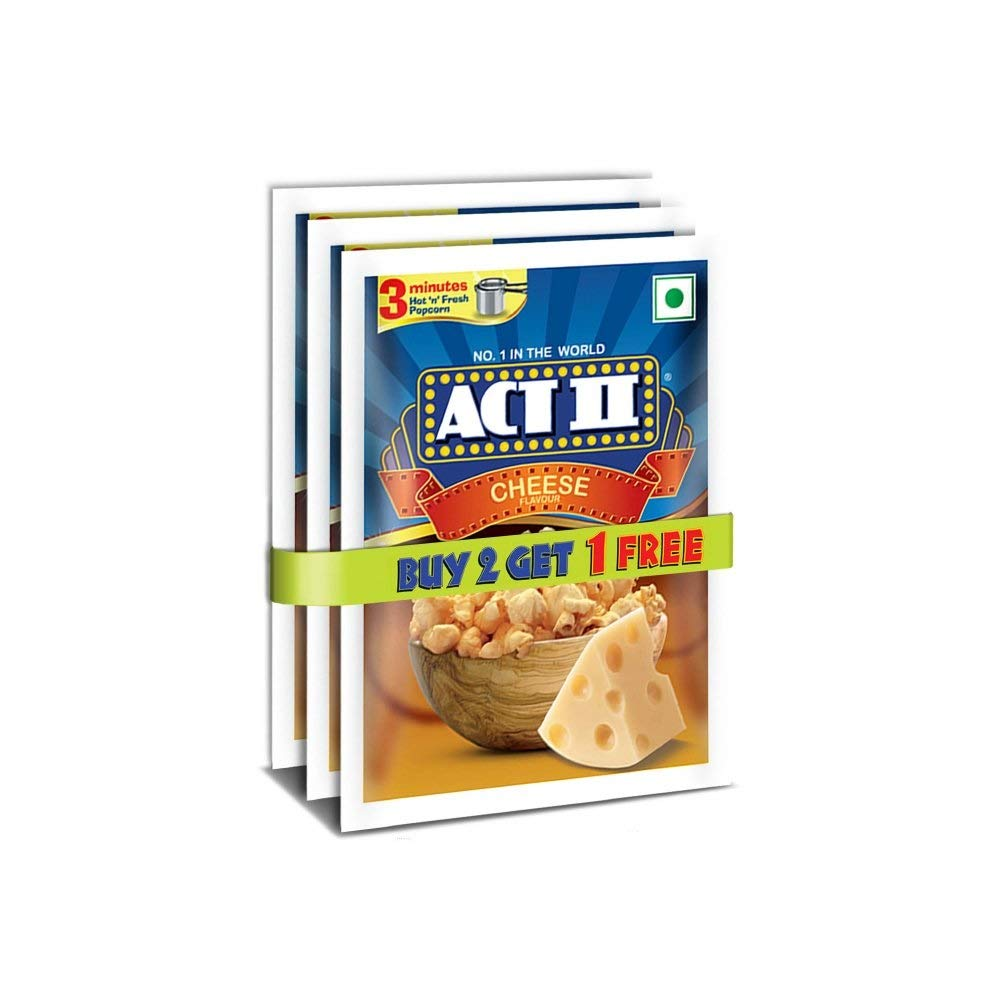 ACT II Cheese Popcorn Gusset Pack, 210 g (Buy 2 Get 1 Free)