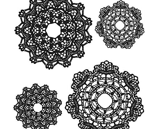 Stampers Anonymous Tim Holtz - Lace (4ks), Ranger, Rubber Cling, Stamps, Scrapbooking Paper