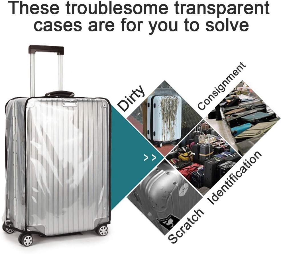 OrgaWise Luggage Cover Custodia protettiva per bagagli trasparente Custodia protettiva Custodia per valigie in PVC per custodie da 22 pollici